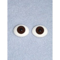 10mm Brown Flat Back Glass Eyes