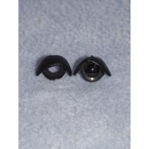 12mm Black Eyelids - Pkg_25 pr