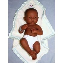 """14"""" La Newborn - First Day - African American Boy"""