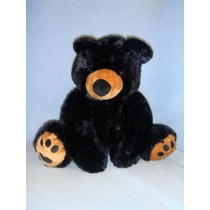 "16"" Plush Sitting Black Bear"