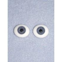 18mm Blue Flat Back Glass Eyes
