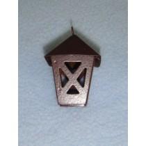"1 1_2"" Miniature Rusted Tin Lantern"
