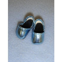 "1"" Metallic Light Blue Sparkly Shoes"