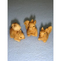 "1"" Miniature Squirrels"