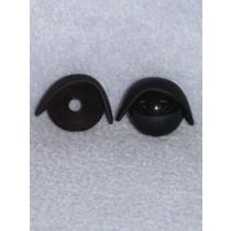 22mm Black Eyelids - Pkg_25 pr