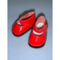 "2 1_8"" Red Patent Mary Jane Shoes"