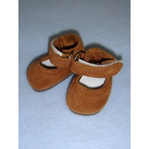 "2 1_8"" Tan Suede Ankle Strap Shoes"