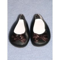 "2 3_4"" Black Fancy Slip-On Shoes"
