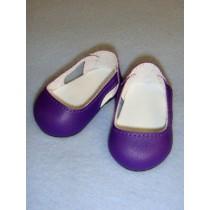 """2 3_4"""" Dark Purple Sleek Side Cut-Out Shoes"""
