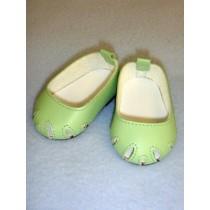 "2 3_4"" Light Green Toe Cut Flats"