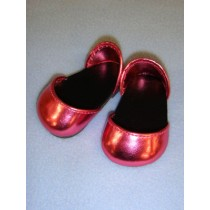 "2 3_4"" Metallic Dark Pink Sparkly Shoes"