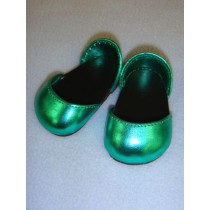 """2 3_4"""" Metallic Green Sparkly Shoes"""