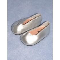 """2 3_4"""" Metallic Silver Princess Shoe"""