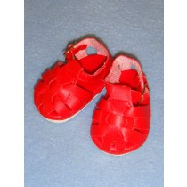 "2 3_4"" Red Fisherman's Sandals"