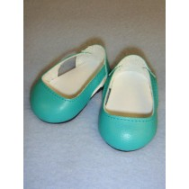 """2 3_4"""" Turquoise Sleek Side Cut-Out Shoes"""