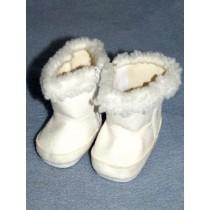 """2 3_4"""" White Fuzzy Boot"""
