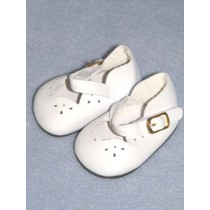"2 3_4"" White Girls Dress Shoe"