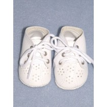 "2 3_4"" White Toddler Shoes"