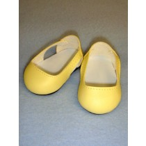 "2 3_4"" Yellow Sleek Side Cut-Out Shoes"
