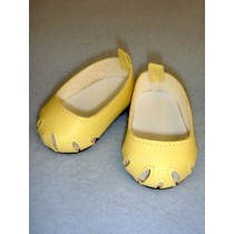 "2 3_4"" Yellow Toe Cut Flats"