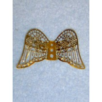 "2 3_8"" Filigree Angel Wings"
