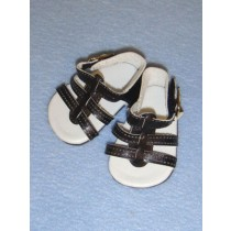 "2 5_8"" Black Strappy Sandals"