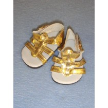 "2 5_8"" Gold Strappy Sandals"
