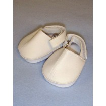 """2 5_8"""" White Comfy Casual Shoe"""