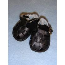 "2 7_8"" Black Fisherman's Sandals"