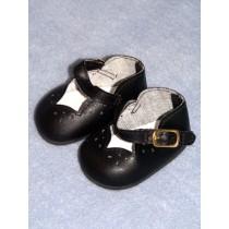 "2 7_8"" Black Girls Dress Shoe"