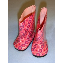 """2 7_8"""" Floral Rain Boots"""