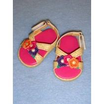 """2 7_8"""" Three Flower Sandals"""