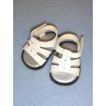"2 7_8"" White Heart Cut-Out Sandals"