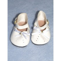 """2 7_8"""" White Molly Shoes"""