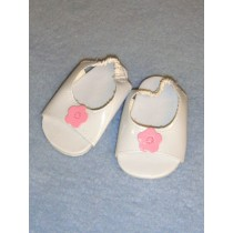"2 7_8"" White Peep Toe Sandals"