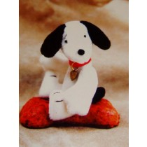 "|3 1_4"" Beagley Dog Pattern"