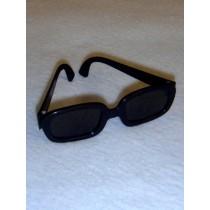 "3 1_4"" Black Sunglasses"