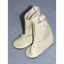 "3 1_4"" Bone High Button Boots"