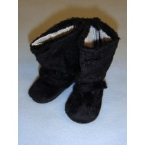 "3 1_8"" Black Furry Boots"