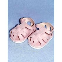 "3 1_8"" Pink Fisherman's Sandals"