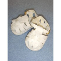 "3 1_8"" White Fisherman's Sandals"
