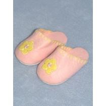"""3 3_8"""" Light Pink Bedtime Slippers"""