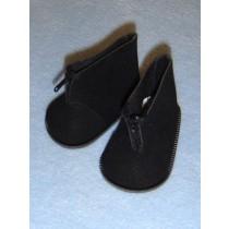 """3"""" Black Suede Zipp Ankle Boots"""