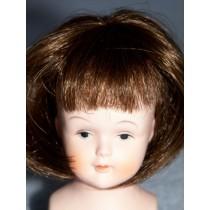 "|3"" Brown Straight Wig w_Bangs"