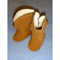 """3"""" Brown Suede Cowboy Boots"""