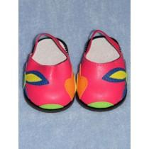 """3"""" Dark Pink Sandals w_Flowers"""