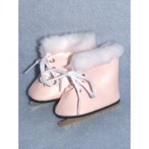 "3"" Lt. Pink Furry Ice Skates"