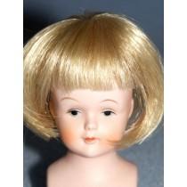 "|3"" Lt Blond Straight Wig w_Bangs"