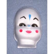 """3"""" Molded Cloth Clown Face"""