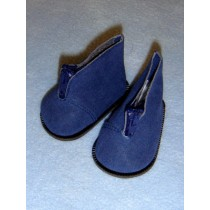 "3"" Navy Blue Suede Zipp Ankle Boots"